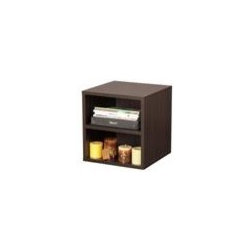 Foremost - Shelf Storage Cube (Honey), Espresso - Finish: Espresso. Two shelves. Perfect for storing magazines and books. Made from wood, particle board, MDF and PE veneer. Minimal assembly required. 15 in. W x 15 in. D x 15 in. H (10.6 lbs.)This shelf cube is elegant in its simplicity and provides flexible functionality.
