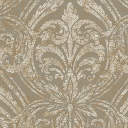 York Wallcoverings - GN2485 Wallpaper, Sample - Prepasted: Paste has already been applied to the back of the wallpaper and is activated with water.