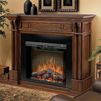 """Dimplex - Dimplex 30-Inch Purifire Plug-in Electric Fireplace Insert - DF3015 - The Dimplex 30"""" Purifire Plug In Electric Fireplace offers more than just charm or warmth. It also works as an air purifier to filter out allergens and particles so you can maintain a cleaner, more comfortable environment. The logs and embers are as realistic as they can be and include an inner glow. You can change the flame intensity and speed to match your mood."""