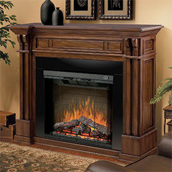 "Dimplex - Dimplex 30-Inch Purifire Plug-in Electric Fireplace Insert - DF3015 - The Dimplex 30"" Purifire Plug In Electric Fireplace offers more than just charm or warmth. It also works as an air purifier to filter out allergens and particles so you can maintain a cleaner, more comfortable environment. The logs and embers are as realistic as they can be and include an inner glow. You can change the flame intensity and speed to match your mood."