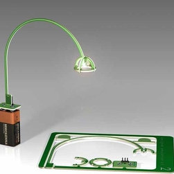 Designer Emulation Kit - By MMCKENNA. Runs on a 9-volt battery for up to 160 hours. Available for the Lucellino Lamp, Arco Floor Lamp, or Tizio Lamp. Ships worldwide.