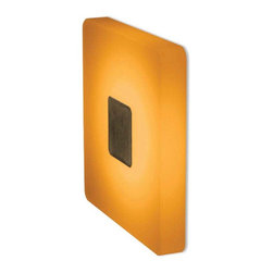 Bruck - Ledra Ice Square LED Recessed Wall with J Box - Ledra Ice is a decorative square recessed accent fixture. The exposed surface of Ice is made of satined acrylic glass in White, Red, Amber or Blue which is completely illuminated with LEDs through its optimum reflection capabilities. When off Ledra Ice will appear to be white/frosted. The color appears when the LEDs are illuminated. It has a frameless design which suits any architectural style. Applications include corridors, hallways, stairwells, hotel lobbies, restaurants, residential and anywhere where indirect light accent is needed. Includes one 2 watt White 4000K LED, junction box, and 500mA DC constant current output LED driver. 100-240V AC, 50/60Hz input. Not thru-wire rated. Features thermal, short circuit, and overload protection. ETL listed for dry locations. Dimensions: 3.1 inch square x 3.9 inch depth. 2.25 inch hole cutout with required material thickness of 3/16 to 1 1/6  inch. Includes 3 year warranty.