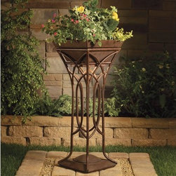 Kichler - Kichler 15415 Cathedral Light Raised Planter - Low Voltage Specialty Lighting - Single Light Outdoor Planter from the Cathedral CollectionA tall planter that will allow draped foliage to interplay with the light emitting from within the arched interwoven bands.