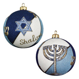Frontgate - Judaica Ornament - Each ornament takes up to 7 days to produce. Constructed of 100% European-made glass. Arrives in a handsome black lacquered box for gifting and safekeeping. Hanger is included for easy display. Our collectible Judaica Ornament from Joy to the World was created with the utmost attention to quality and detail. The finest artisans in Poland individually mouth blow and hand paint each ornament, achieving new levels of innovation and artistic integrity in their designs. Using only traditional old world production methods and materials sourced from European countries, they ensure that each ornament is an impressive work of art that will be treasured for generations. . . . . Made in Poland.