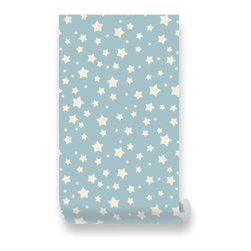 Pink & Blue Baby - Starlit Sky Removable Wallpaper - Peel & Stick, Repositionable Fabric Wallpaper - ���Twinkle, twinkle little star, how I wonder what you are?�� Designed to reflect sceneries of a starlit night, dazzle your wall with an enchanting pattern of stars. Take a relaxing sleep and soothe yourself after making a wish upon a star.