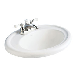 """American Standard - Standard Collection Self-Rimming Drop-in Bathroom Sink with 4"""" Centers in White - American Standard 0293.004.020 Standard Collection Self-Rimming Drop-in Bathroom Sink with 4"""" Centers in White."""
