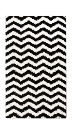 Nuloom - nuLOOM Luna Black and White Chevron Shag Rug (9'2 x 12') - Soft and plush, this NuLOOM shag rug features a bold black and white chevron pattern. The construction of this fun and fashionable area rug is sturdy and will stand the test of time.