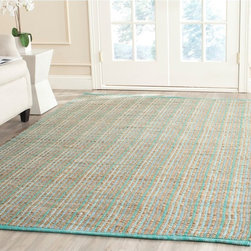 Safavieh - Safavieh Hand-woven Cape Cod Green Jute Rug (5' x 8') - Safavieh's Cape Cod collection is inspired by timeless casual designs crafted with the softest jute available.