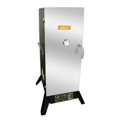 "Weston - Outdoor Propane Smoker 36"" - 36"" Outdoor Vertical Propane Smoker (45.5"" assembled) with Black Powder-Coat Sides & Stainless Steel Door.  Includes 4 Cooking Racks & Sausage Hangers."