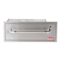 Bull BBQ - Bull Outdoor Warming Drawer - 304 Grade 16 Gauge Stainless Steel Construction