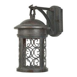"Designers Fountain - Designers Fountain 31111-MP 1 Light 7"" Wall Lantern from the Dark Sky Barrington - Features:"