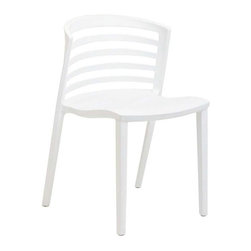 Modway - Curvy Dining Side Chair in White - Indulge in no-frills, straightforward contemporary style with this modern multi-purpose chair. Made from heavy-duty molded plastic this chair was built to last. Eye catching and comfortable, this reproduction brings fashion and flavor to your space.