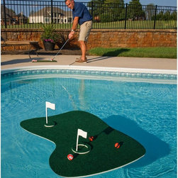 Swim Time - Swim Time Aqua Golf Backyard Golf Game - NT2215 - Shop for Toys from Hayneedle.com! Make the pool your own private golf course with the Swim Time Aqua Golf Backyard Golf Game. This floating green lets you chip in shots and offers a challenging way to hone some skills and have some fun. Velcro on the balls keeps them from rolling off the green and into the pool. Ideal for both kids and adults.About SplashNet XpressSplashNet Xpress is dedicated to providing consumers with safe high-quality pool products delivered in a fast and friendly manner. While it's adding new product lines all the time SplashNet Xpress already handles pool maintenance items toys and games cleaning and maintenance devices solar products and aboveground pools.