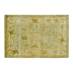 Oushak Oriental Rug, 6'X9' Hand Knotted Vegetable Dyes 100% Wool Rug SH6799 - Hand Knotted Oushak & Peshawar Rugs are highly demanded by interior designers.  They are known for their soft & subtle appearance.  They are composed of 100% hand spun wool as well as natural & vegetable dyes. The whole color concept of these rugs is earth tones.