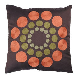 Rizzy Home - Orange and Green Decorative Accent Pillows (Set of 2) - T2325B - Set of 2 Pillows.