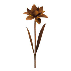 Silk Plants Direct - Silk Plants Direct Metal Water Lily Garden Stake (Pack of 2) - Silk Plants Direct specializes in manufacturing, design and supply of the most life-like, premium quality artificial plants, trees, flowers, arrangements, topiaries and containers for home, office and commercial use. Our Metal Water Lily Garden Stake includes the following: