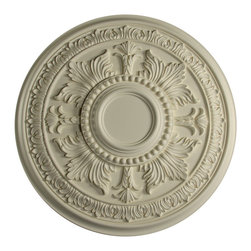 uDecor - MD-9049 Ceiling Medallion - Ceiling medallions and domes are manufactured with a dense architectural polyurethane compound (not Styrofoam) that allows it to be semi-flexible and 100% waterproof. This material is delivered pre-primed for paint. It is installed with architectural adhesive and/or finish nails. It can also be finished with caulk, spackle and your choice of paint, just like wood or MDF. A major advantage of polyurethane is that it will not expand, constrict or warp over time with changes in temperature or humidity. It's safe to install in rooms with the presence of moisture like bathrooms and kitchens. This product will not encourage the growth of mold or mildew, and it will never rot.