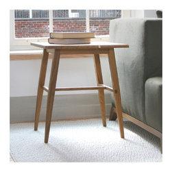 Semigood Design - Rift End Table - Features: -Made in USA.-Rift collection.-Collection: Rift.-Distressed: No.-Country of Manufacture: United States.Dimensions: -Dimensions: 22.75'' H x 20'' W x 20'' D.