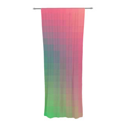 "Kess InHouse - Danny Ivan ""Gradient Print"" Decorative Sheer Curtain - Let the light in with these sheer artistic curtains. Showcase your style with thousands of pieces of art to choose from. Spruce up your living room, bedroom, dining room, or even use as a room divider. These polyester sheer curtains are 30"" x 84"" and sold individually for mixing & matching of styles. Brighten your indoor decor with these transparent accent curtains."