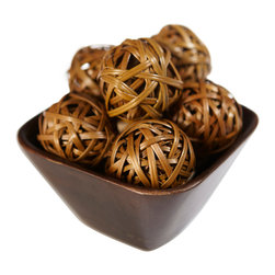 Nearly Natural - Nearly Natural Decorative Balls (Set of 12) - If there's one item that can liven up any room (not to mention go anywhere), It's these wonderful decorative balls. Uniquely crafted, and colored in a neutral brown color that can go with any room, these balls can be stacked, placed into a bowl, set around the room ... The ideas are only limited by the depths of your imagination! A great idea for any room that wants to be fun.