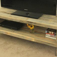 Modern Media Storage by JW Atlas Wood Co.