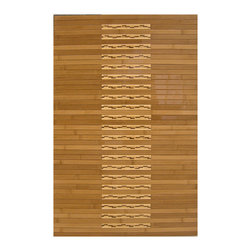 None - Oolong Bamboo Mat (1'6 x 2'6) - Enhance the look of your kitchen or bathroom decor with this durable bamboo floor mat. It features a high-gloss polyurethane finish,which helps to resist water,and it has a non-skid backing that will keep the mat in place when you are standing on it.