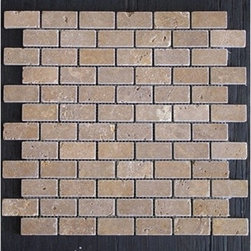 Noche Tumbled Travertine Tiles - Our new Noce / Noche Travertine materials are dark brown. This raw material is especially suited for brushed and distressed edge multi-size pattern sets, pavers and tumbled tiles & mosaics. Made from the highest quality premium Turkish Travertine Strictly selected; consistent in color, sizing and finish. Suitable for commercial and residential projects. Interior as well as exterior surface covering applications. Meets your needs at a very low cost