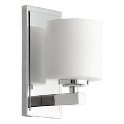 """Quorum International - Quorum International 5669-1 9.25"""" Height 1 Light Bathroom Sconce with Satin Opal - Features:"""
