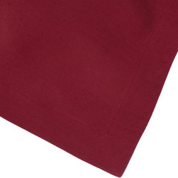 Huddleson Linens - Solid Claret Linen Napkin (Set of Four) - Simple crimson red cloth napkins that owe their elegance and sophistication to the depth of color saturation and the fine quality of their Italian linen fabric. Machine wash them all you want; they get even softer with use!