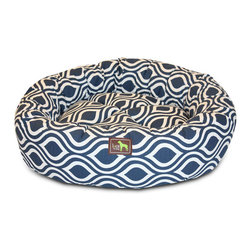 Luca for Dogs - Medium Flicker Indigo Nest Bed - The Luca Nest takes comfort to a whole new level. 100% washable, with removable covers that unzip for convenient washing. Pillows are generously filled with 100% recycled fiber.