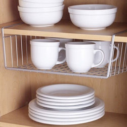 Polytherm Undershelf Baskets - If I had to choose one thing most in need of improvement in my kitchen, it would be maximizing my cabinet space. I'll take three of these, please.