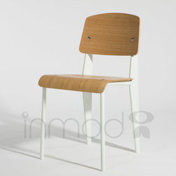 Prouve Standard Chair - The Prouve Standard Chair is a high quality reproduction of Jean Prouve's original designed in 1930. This mid-century inspired chair is most well known for its aeronautic style rear legs. Combining innovative style with impressive durability, the Prouve Standard Chair works well in practically any setting.