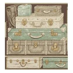 York Wallcoverings - Vintage Luggage Wallpaper from York Wallcoverings - York Wallcoverings