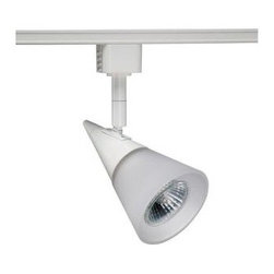 Juno - Juno Trac-Lites Glass Cone White Track Light R716WH - Shop for Lighting & Fans at The Home Depot. The Juno Trac-Lites Glass Cone Track Light offers a stylish, contemporary design. It features a white, cone-shaped rear housing with a conical front-glass accent in opal-frost. This track light provides exceptional task and accent lighting when installed on the economical Juno Trac-Lites system.