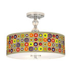 Chrome Marbles in the Park 16-Inch-W Ceiling Light