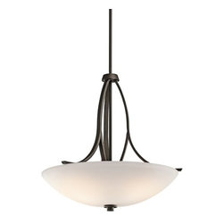 Kichler - Kichler 42561OZ Granby 3-Bulb Indoor Pendant with Bowl-Shaped Glass Shade - Product Features: