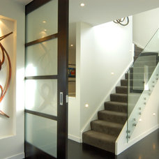 contemporary staircase by Lake Road Interior Design