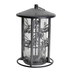 Heath Outdoor Products - Black Butterfly Birdhouse - Perfect for attracting flying friends into the yard, this durable birdhouse provides a convenient place for chirping chickadees to rest and relax while enjoying a quick snack.   11'' H x 8'' diameter Metal Made in the USA