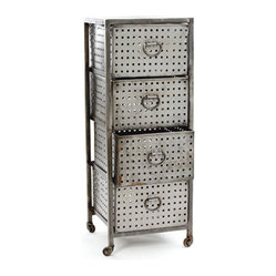 Industrial 4 Drawer Bin