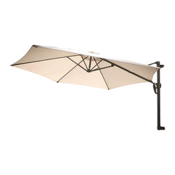Great Deal Furniture - Aruba Folding Wall Mount Umbrella Canopy, Grey - The innovative design of the Aruba Folding Wall Mount Sun Canopy makes this piece a perfect shade solution for you and your guests. Mount this canopy to any outdoor wall to immediately give you and your guests the right protection you need from the elements. The canopy covering can also be consolidated and wrapped to keep it safe from the elements when not in use. Function and form go hand in hand with this durable piece, designed to give you all of the benefits of being outdoors at no cost to comfort.