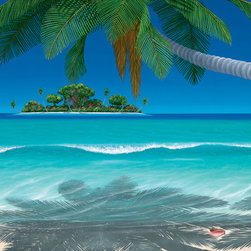 Murals Your Way - Beach Music Wall Art - Painted by Dan Mackin, the Beach Music wall mural from Murals Your Way will add a distinctive touch to any room