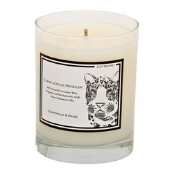 EJH Brand - Grapefruit + Baise Candle - Employ the influence of fragrance to enhance your space. The all-natural coconut wax and 100 percent pure essential oils of this candle feature grapefruit, which is known to refresh and invigorate.