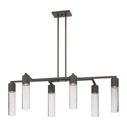 Kovacs - Kovacs P976 6 Light 1 Tier Linear Chandelier Light Rain Collection - Six Light 1 Tier Linear Chandelier from the Light Rain CollectionFeatures: