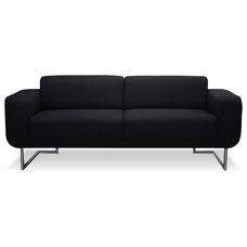Modern Sofas Camden Black 2-Seat Couch