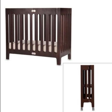 Bloom - bloom baby alma Urban Folding Cot/Mini Crib in Cappuccino - alma is perfect for style, mobility and storage. This carefully designed folding wooden crib is the ideal selection for a chic and contemporary nursery.
