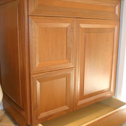 Custom cabinets - Custom vanity designed and made by New Concept 180, Mahogany, Stain finish, Condor door, Optional Toe-kick drawer for additional storage