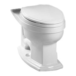 Toto - Toto C784EF#01 Cotton White Eco Clayton Elongated Toilet Bowl Only, 1.28 GPF ADA - With sleek lines and a beautiful style, the Clayton series gives a simple, yet sophisticated feel to any bath.