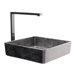Maestrobath - Pert Four Lux Silver Leaf Modern Vessel Sink - Amazing light reflections and a stunning texture is what your eyes would experience with the Four product line. As the name implies, Four is in the shape of a square with smooth and perfectly round edges and corners. Available in different colors to match your personal taste, the special polymer used to create this basin, PERT, is also very light weight and durable.  This modern bathroom sink will bring a touch of luxury to your modern home.Here is more information related to MaestroBath: Services Provided: Luxury Handmade Italian Vessel Sinks, Modern and Contemporary Kitchen and Bath Fixtures. Business Description: Maestrobath delivers contemporary and modern handmade Italian bathroom sinks and designer faucets to clients with taste of luxury. It carries a wide selection of beautiful and unique Travertine, Crystal and Glass vessel sinks in variety of colors and styles. Maestrobath services homeowners and designers globally.