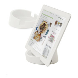 Bosign - Tablet / Cookbook Stand, White - Bosign's awarded Kitchen Tablet Stand for home chefs is a smart and versatile portable iPad or tablet platform for the home.