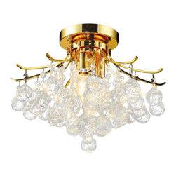 """Elegant Lighting - Elegant Lighting 8000F16G/Rc Toureg 12-Inch High 3-Light Flush Mount, Gold Fnsh - Diameter: 16"""", Height: 12"""""""